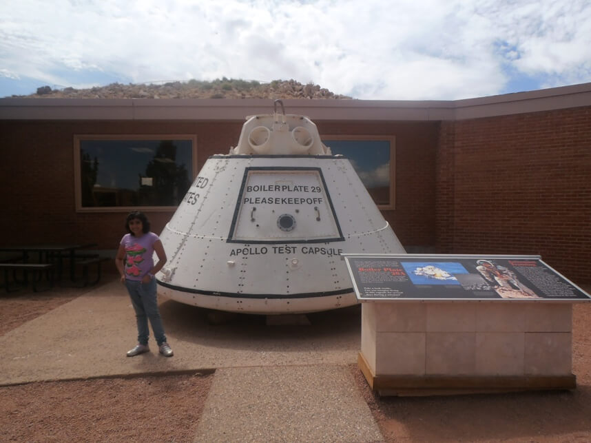 the Apollo test capsule meteor crater arizona