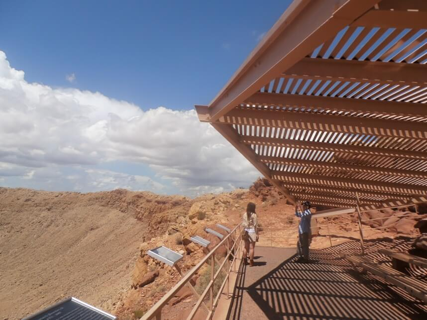 the observation deck, Meteor Crater