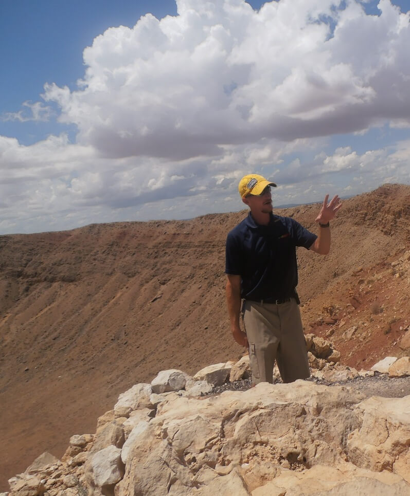 our wonderful guide .meteor crater arizona