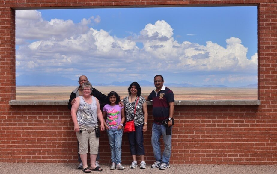 All of us at the window : Meteor Crater, Arizona.