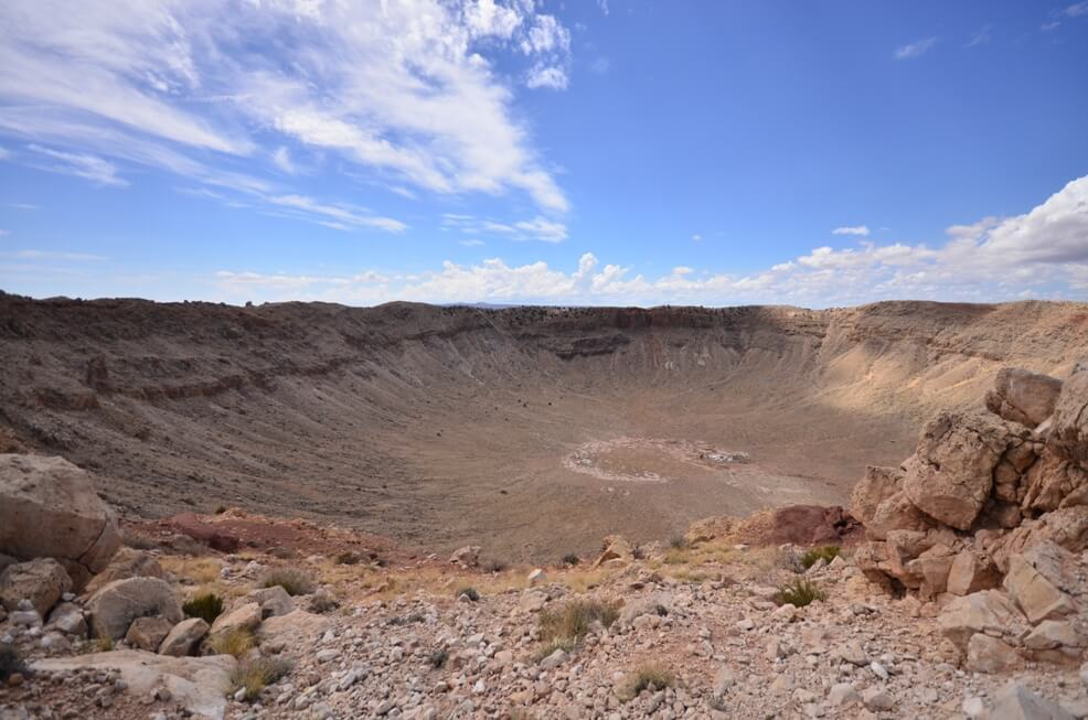 TThe Crater from the observation deck ,Arizona
