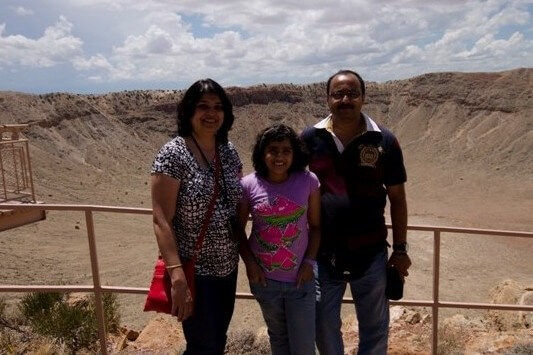 Meteor Crater Background, US