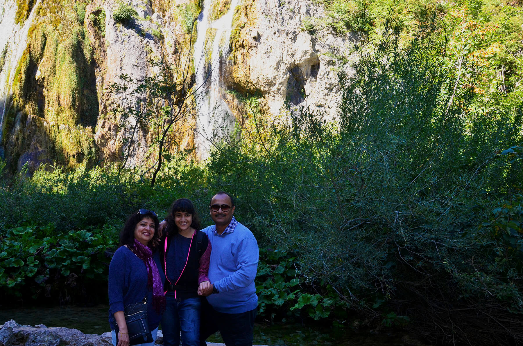 3 of us Plitvice waterfall