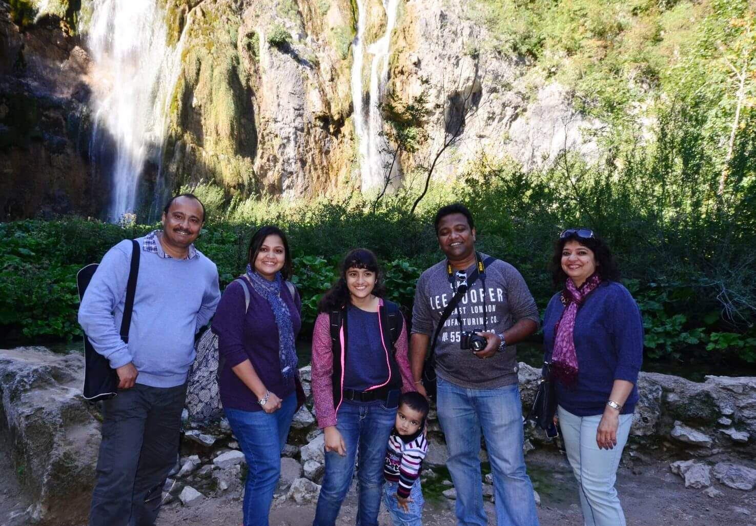 Group in front of The Big Waterfall