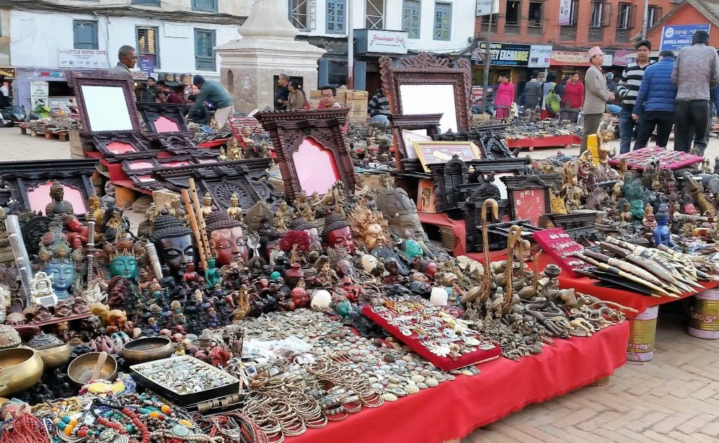 Curios and Artifacts at Durbar Square, Nepal