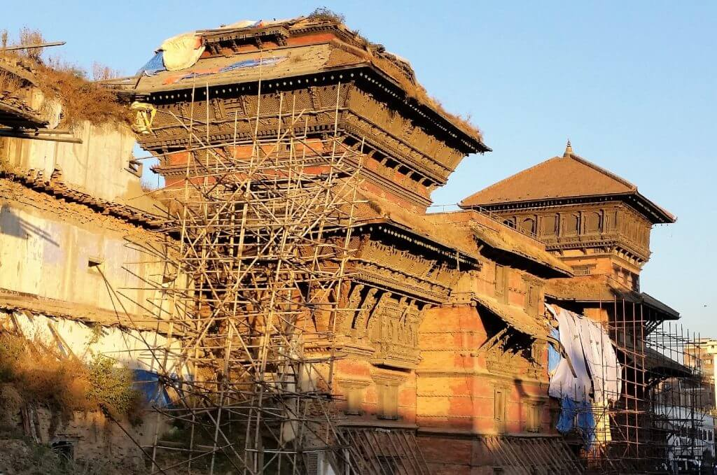 Durbar Square Palace after the Nepal Earthquake