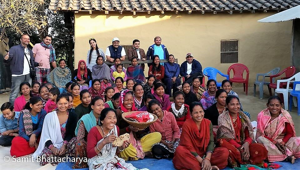 The women of the Jonapur village, Nepal