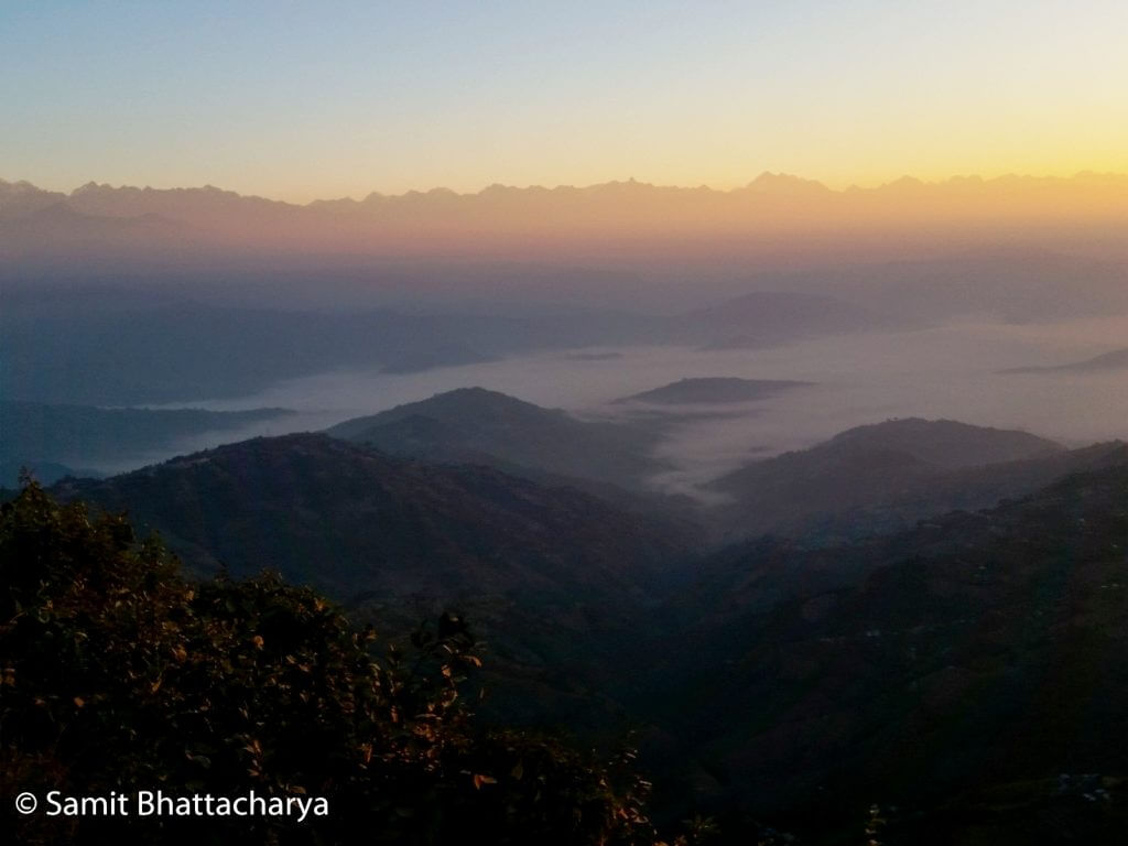 Nagarkot view at Sunrise