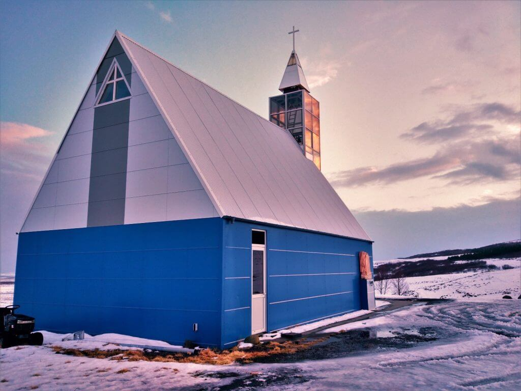 Blue Church Iceland