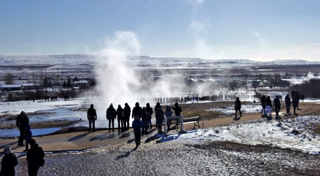 Geysir Hot Springs , Iceland