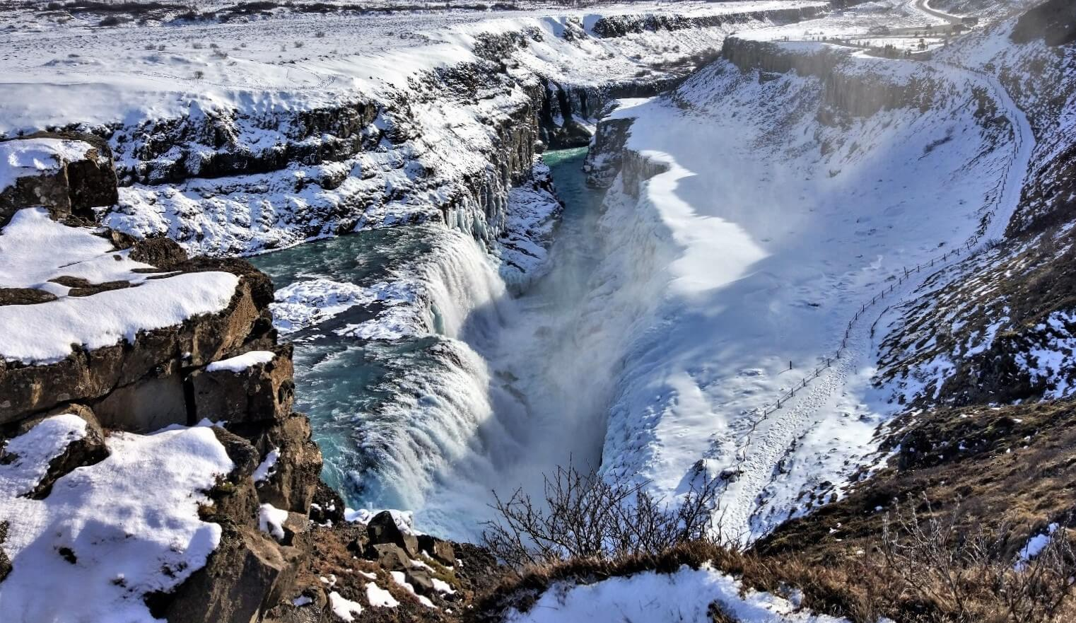 The Majestic Gullfoss , Iceland: Geysir and Gullfoss