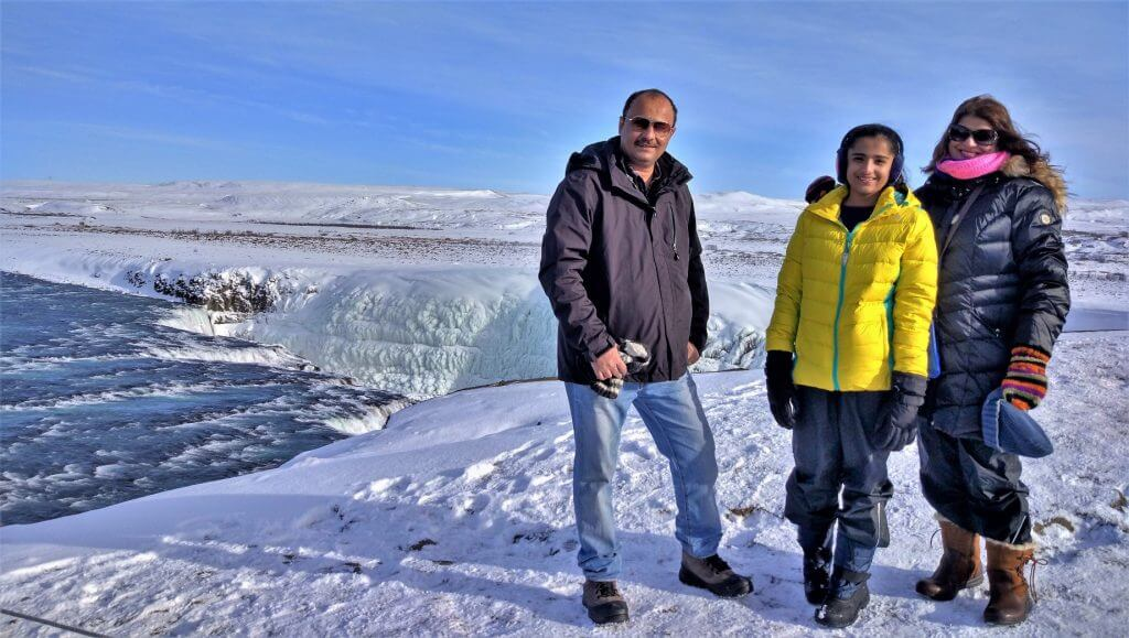 Gullfoss, Iceland with family