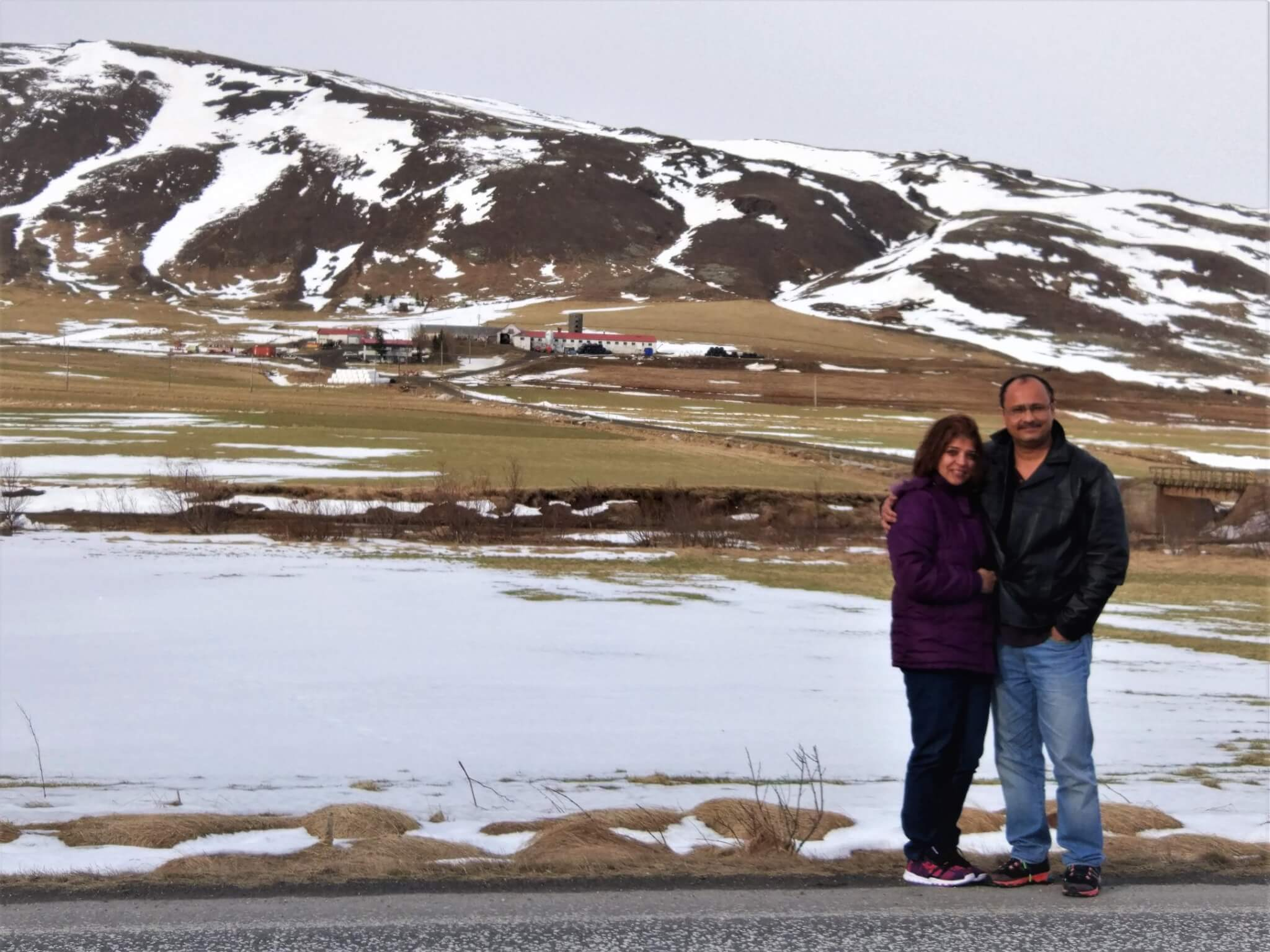 The first sight of snow : Along Golden Circle Route, Iceland