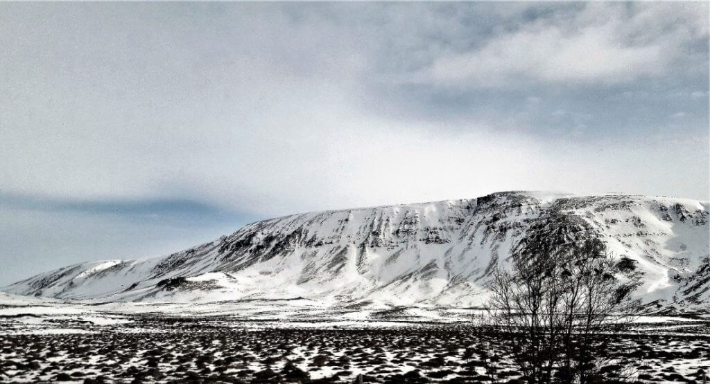 Table Top Snowy Mountain : Iceland Road Trip