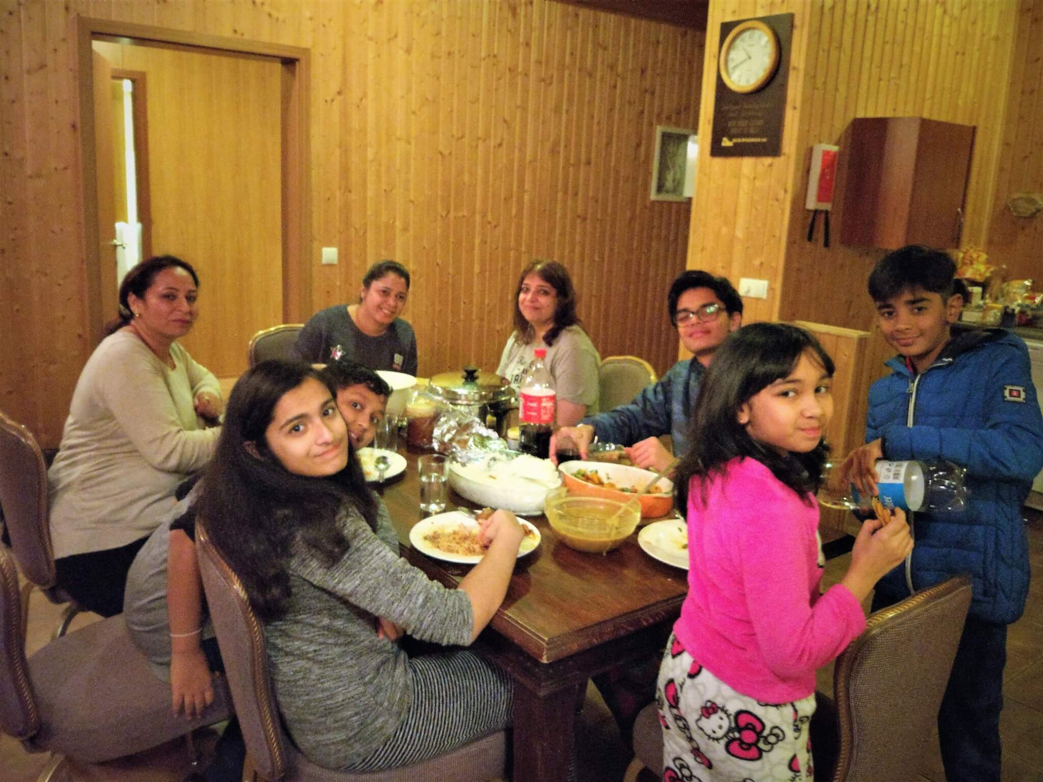 Team Dinner at Uthlid Cottages. Iceland Road Trip Day 1