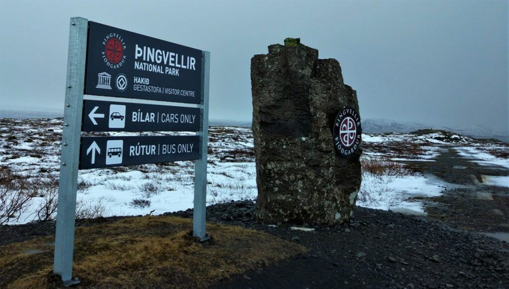 Entrance to Tingvellir National Park