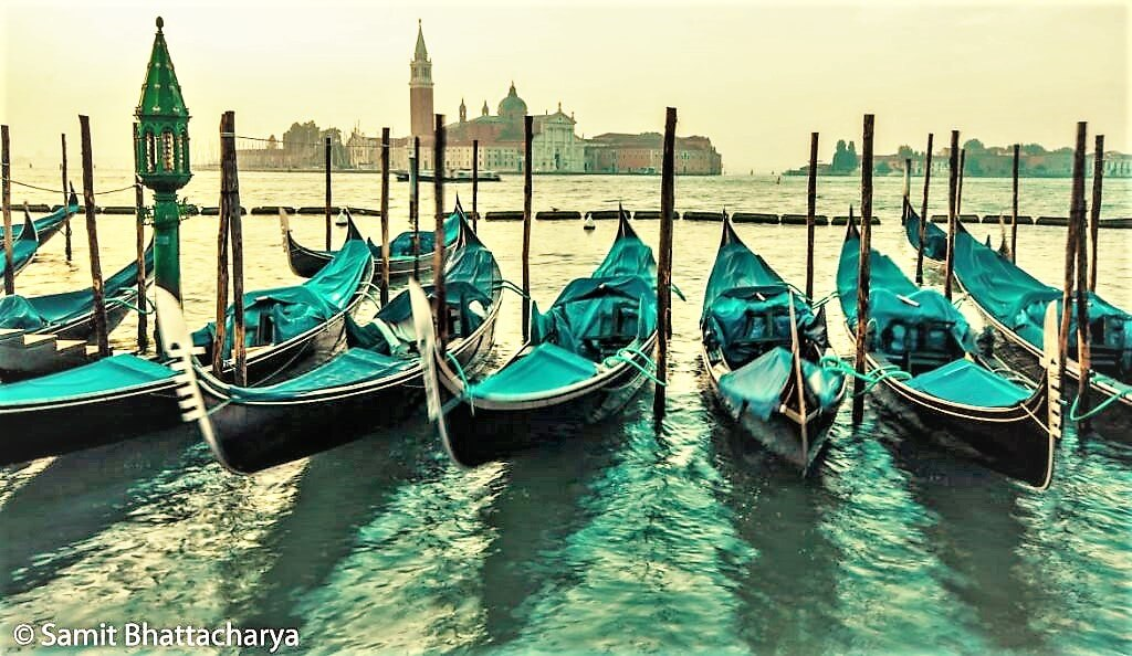 Boats on the Adriatic, Venice Italy