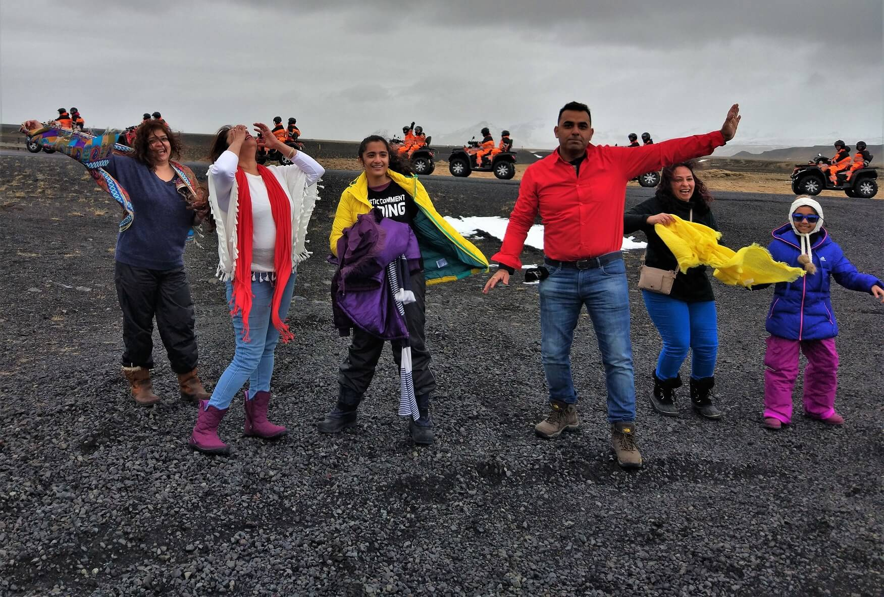Group Fun near VIK, Iceland