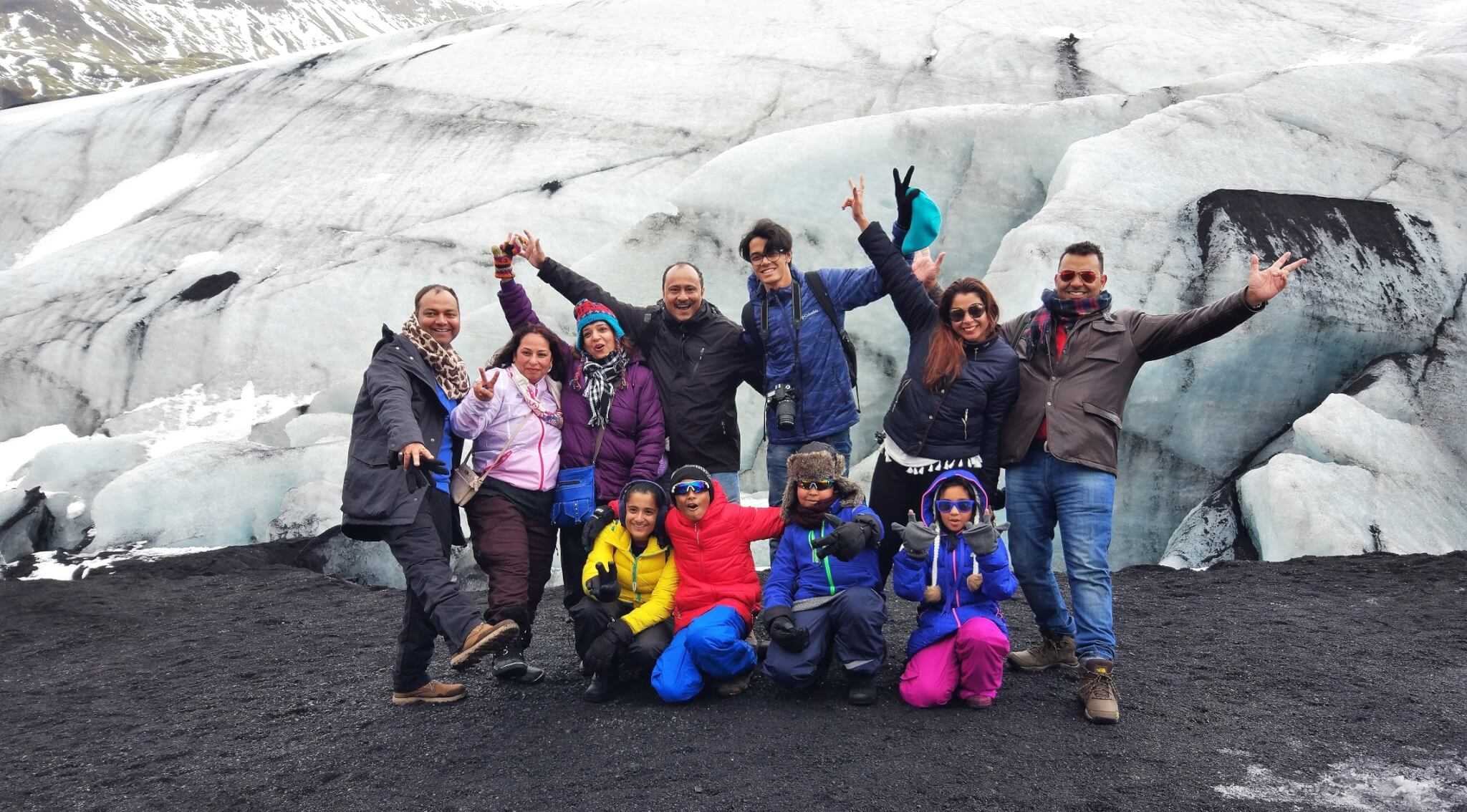 Group at Sólheimajökul Glacier