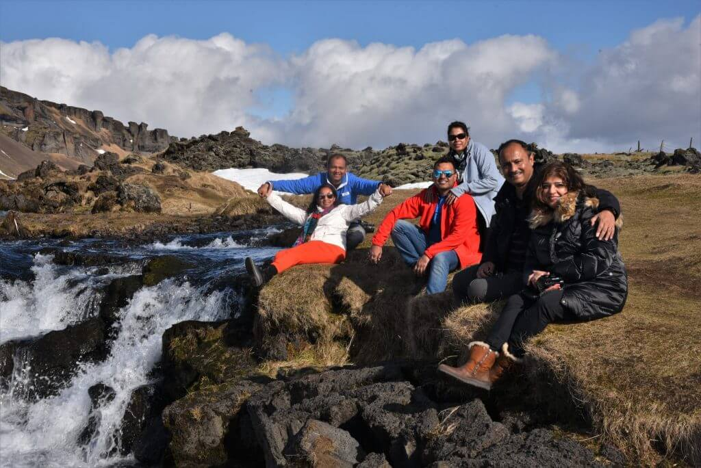 Enjoying Nature in Iceland : Besides a mountain stream