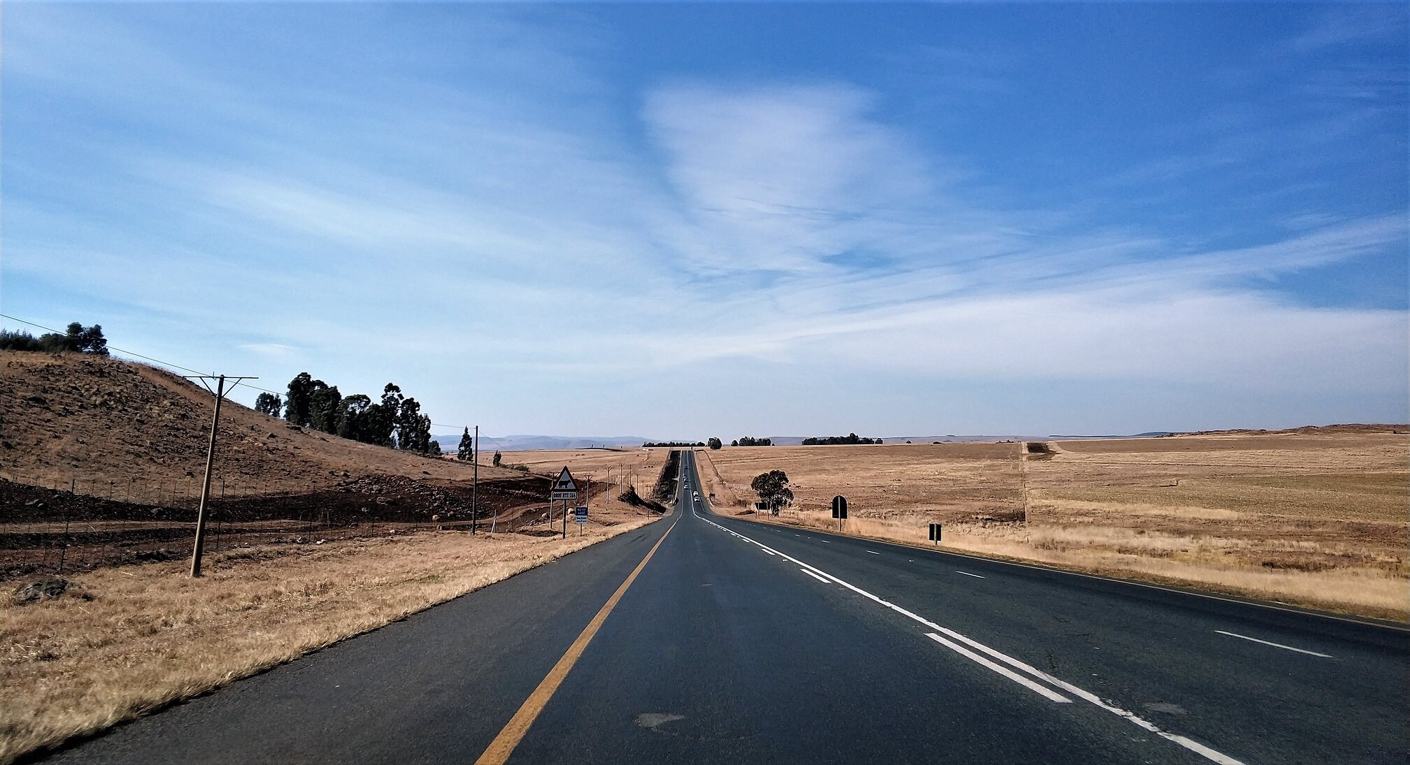 The road to Kruger National Park
