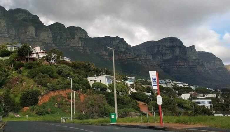 The 12 Apostles from Camps Bay : Cape Town
