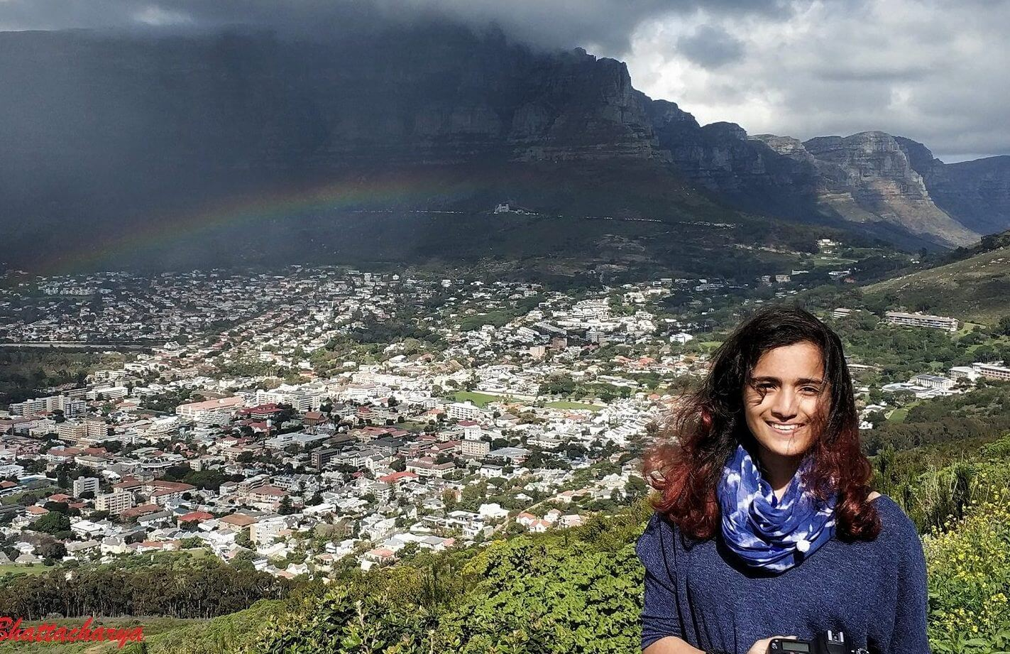 Rainbow and Table Mountain