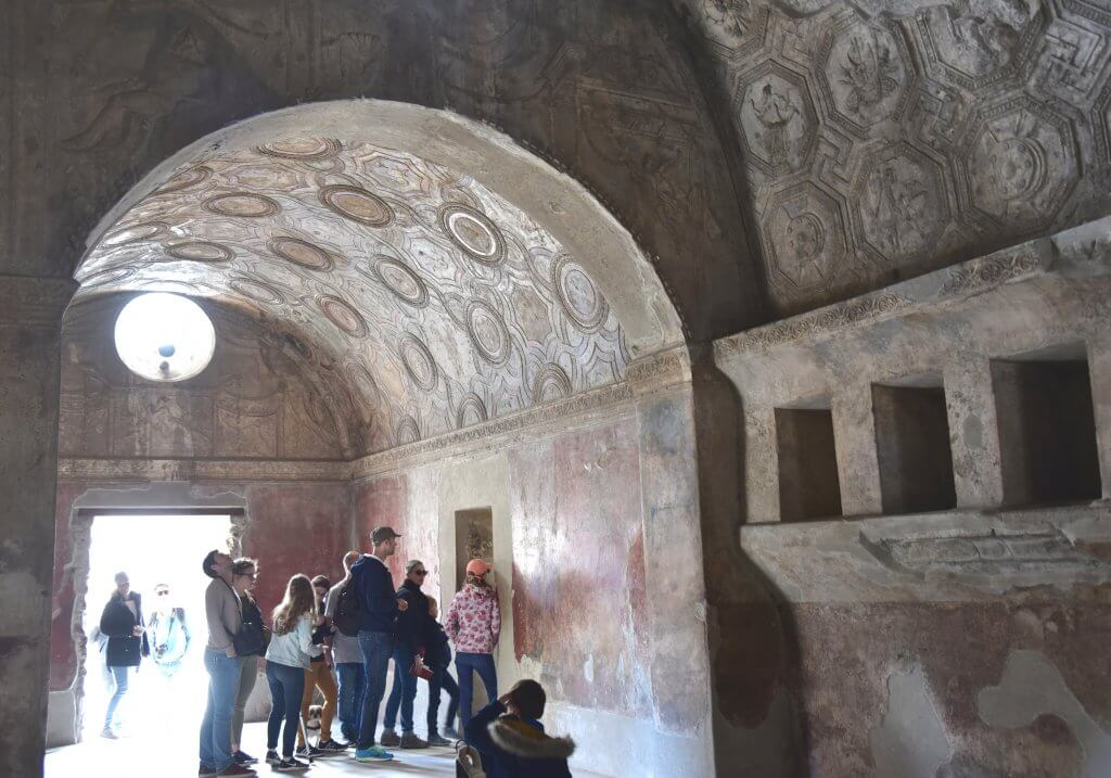 Entrance to one of the Baths in Pompeii