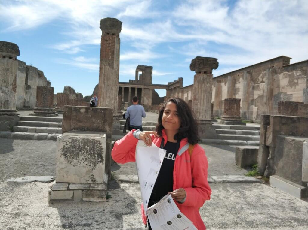 In front of the Basilica at Pompeii