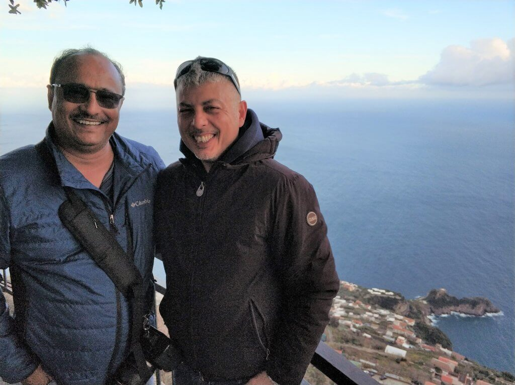 Samit with our host Fransesco at Agerola