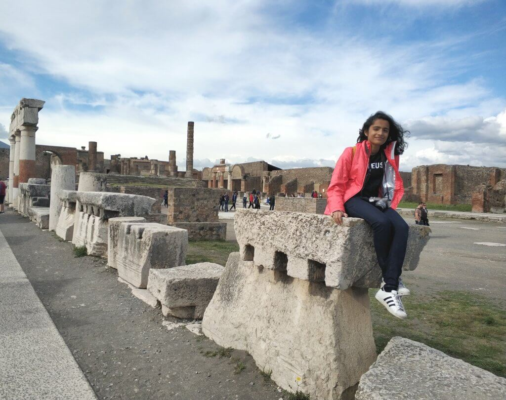 The magnificent ruins of the Forum at Pompeii