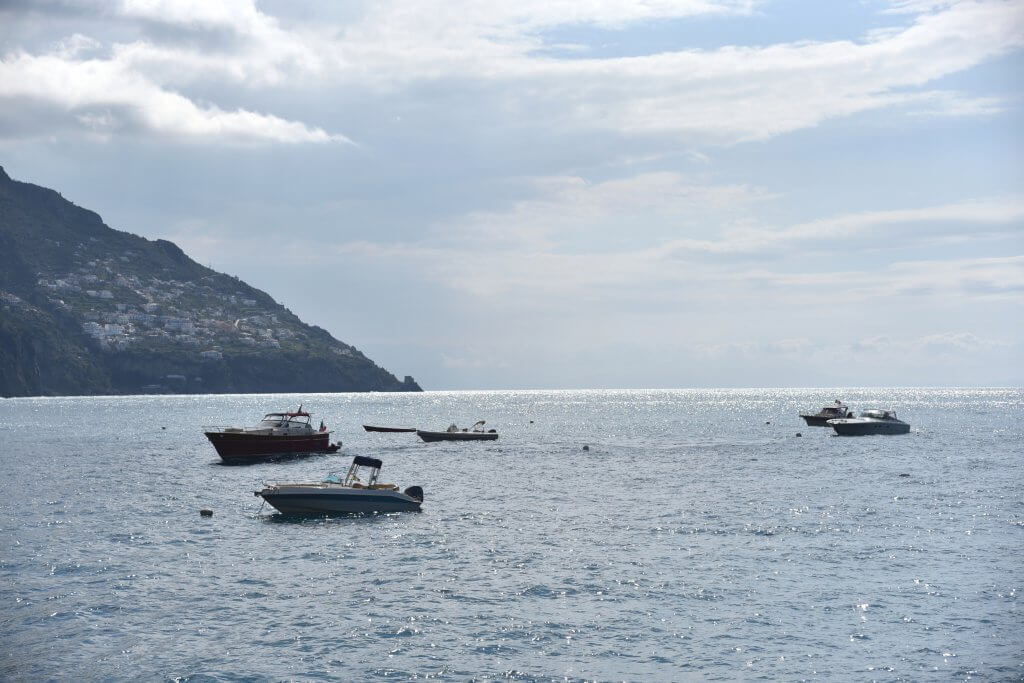 The shimmering Mediterranean from the Amalfi Coast