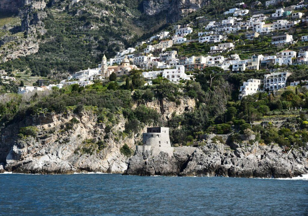 Viewing Praiano from the sea