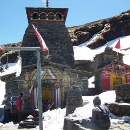 The Himalayas stand guard over these sacred places of the yogis